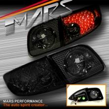 Smoked LED Tail Lights for Mazda 3 Sedan 03-09 BK Series 1 & 2