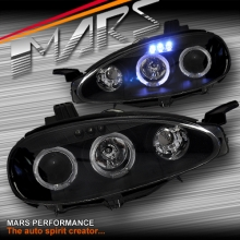 Black Angel Eyes Projector Head Lights for MAZDA MX-5 NB 01-05