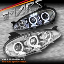 Crystal Clear Angel Eyes Projector Head Lights for MAZDA MX-5 NB 01-05