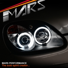 Black CCFL Angel Eyes Head Lights for Mercedes-Benz SLK R170 97-04