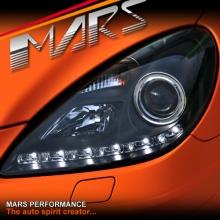Black LED DRL Projector Head Lights for Mercede-Benz SLK R171 (Suit HALOGEN model)