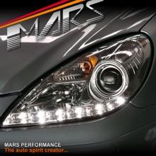 Crystal Clear LED DRL Projector Head Lights for Mercede-Benz SLK R171 (Suit HALOGEN model)