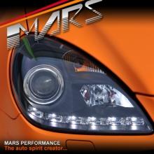 Black LED DRL Projector Head Lights for Mercede-Benz SLK R171 (Suit HID/Xenon model)