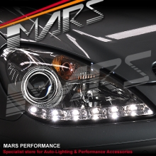 Crystal Clear LED DRL Projector Head Lights for Mercede-Benz SLK R171 (Suit HID/Xenon model)