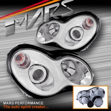 AMG C55 Style Projector Head Lights for Mercedes-Benz C-Class W203 00-07 Sedan & Wagon