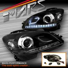 Day-Time LED DRL Dual Beam Projector Head Lights for Mercedes-Benz C-Class W204 07-10