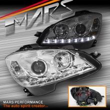 Crystal LED DRL Projector Head Lights for Mercede-Benz C-Class W204 07-10 Sedan & Wagon
