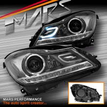 AMG C63 Style Projector DRL Head Lights for Mercede-Benz C-Class W204 11-14 (Replacement)