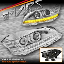 S65 Style DRL LED Projector Head Lights with LED Indicators for Mercedes-Benz S-Class W221 Sedan 06-09
