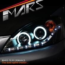 Black DRL LED & CCFL Projector Angel Eyes Head Lights for Mitsubishi Lancer CH 03-07