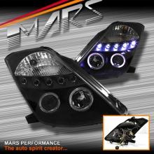 Black Angel Eyes Projector Head Lights for Nissan Z33 350Z 03-05 Series 1