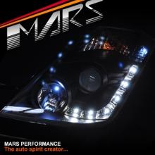JDM Black LED DRL Projector Head Lights for Nissan Z33 350Z 06-08