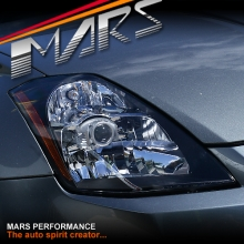 Black JDM Projector Head Lights for Nissan Z33 350Z 03-05 Series 1