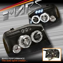 Black Angel-Eyes Projector Head Lights for Nissan Navara D22 03-14