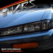 Black JDM Head Lights with Smoked Corner for Nissan 200SX Silvia S14 97-98