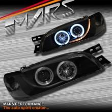 Black CCFL Angel-Eyes Projector Head Lights for Subaru Impreza 94-00 GC8 GF8