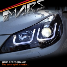 Black 3D DRL Day-Time Projector Head Lights for Subaru 5GEN Liberty Legacy OutBack 09-14 Wagon