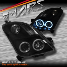 Black CCFL Angel Eyes Projector Head Lights for Suzuki Swift 04-10