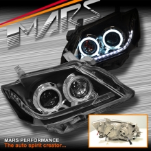LED DRL & CCFL Angel Eyes Dual Beam Projector Head Lights for Toyota Aurion