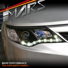 Black LED DRL Projector Head Lights for Toyota Camry 12-15