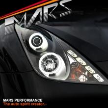 Black Ccfl Angel Eyes Projector Head Lights For Toyota