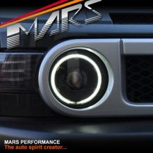 Black CCFL Angel Eyes Dual Beam Projector Head Lights for Toyota FJ-Cruiser