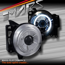 Crystal Clear CCFL Angel Eyes Dual Beam Projector Head Lights for Toyota FJ-Cruiser