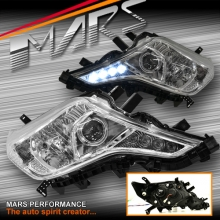 Crystal Day-Time DRL LED Projector Head Lights for Toyota Land-Cruiser Prado 14-17 Update model