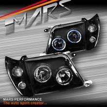 Black Angel Eyes Head Lights & Corner for Toyota LANDCRUISER Prado FJ90 96-03