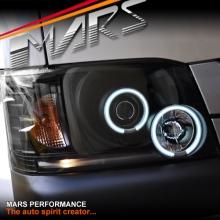 Black CCFL Angel Eyes Projector Head Lights for Toyota Hiace VAN 05-10