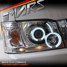 Crystal Clear CCFL Angel Eyes Projector Head Lights for Toyota Hiace 05-10