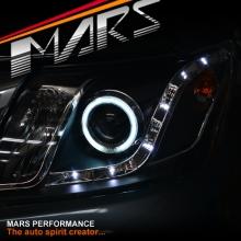 Black DRL LED & CCFL Angel Eyes Projector Head Lights for Toyota Hilux 11-15 KS