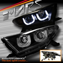 Black 3D DRL LED Projector Head Lights for Toyota HighLander & Kluger 11-13
