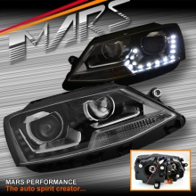Black LED DRL Projector Head Lights for VolksWagen Jetta 11-17