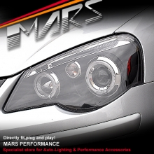 Black Angle Eyes Projector Head Lights for VolksWagen VW POLO 9N 05-09