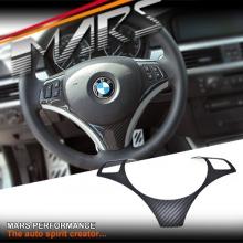 Carbon Fibre Steering Wheel Cover for BMW 3 Series E90 E91 E92 E93
