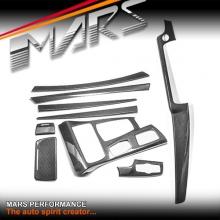 Real Carbon Fibre RHD Interior Dash Trim & Door Handle Covers for BMW 5 Series F10 F11 pre LCI 10-13