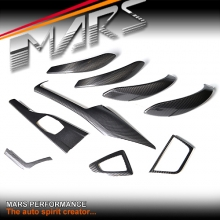 Real Carbon Fibre RHD Interior Dash Trim & Door Handle Covers for BMW 3 Series F30 & 4 Series F32 F33 F36