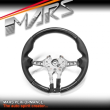 MARS Performance Carbon Fibre with Leather Wrap Steering Wheel for BMW M Sports Series 1, 2, 3 , 4 & M2 M3 M4