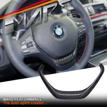 Carbon Fibre Steering Wheel Cover for BMW 3 Series F30 F31 F34 & 4 Series F32 F33