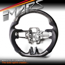 MARS D Shape Carbon Fibre with Alcantara Wrap Steering Wheel for FORD Mustang FM 15-17