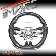 MARS D Shape Carbon Fibre with Leather Wrap Steering Wheel for FORD Mustang FM 15-17