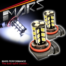 2x MARS Performance H8 H9 H11 LED SMD White Fog Light bulbs