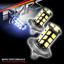 2x MARS Performance H7 LED SMD White Fog Light bulbs