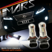 2x MARS Performance High Power Projector LED SMD White Fog Light Bulbs for Lexus Is250 Is350 XE20