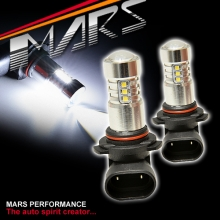 2x MARS Performance HB3 9005 Torch Projector LED SMD White Fog Light bulbs