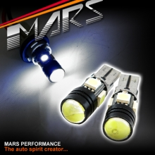 2x MARS Canbus Super Bright LED SMD T10 W5W Torch Projector White Light bulbs