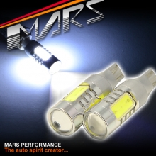2x MARS Super Bright Torch Projector LED SMD T15 White Reverse light bulbs