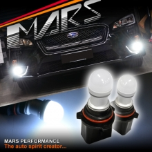 2x MARS Performance 3D LED SMD White DRL Fog Light bulbs for Subaru WRX 14+