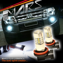 2x MARS Performance High Power Torch Projector LED SMD White Fog Light Bulbs for Mitsubishi Pajero NS NT NW NX 07-15